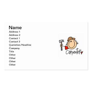 Male Carpenter Business Card
