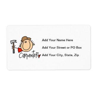 Male Carpenter Label