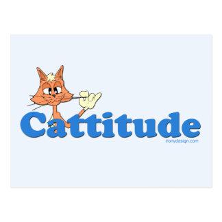 Male Cattitude Postcard