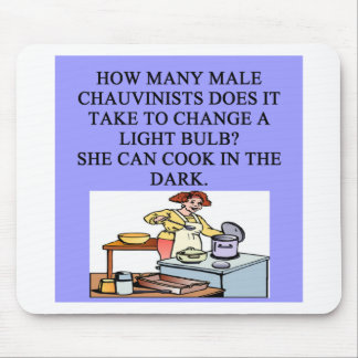 male chauvinist oig cooking joke mouse pad