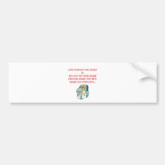 male chauvinist pig joke bumper stickers