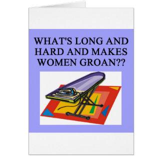male chauvinist pig joke card