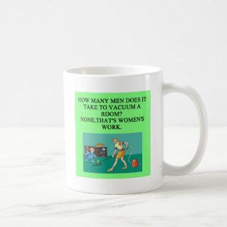 male chauvinist pig joke coffee mugs