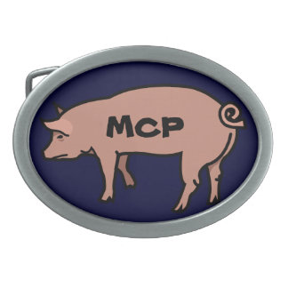 Male Chauvinist Pig Oval Belt Buckle