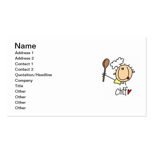 Male Chef Business Card