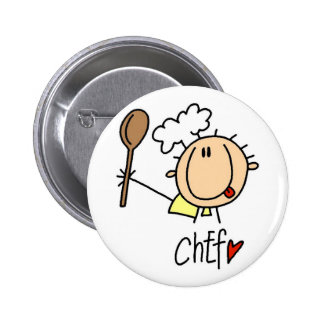 Male Chef Buttons