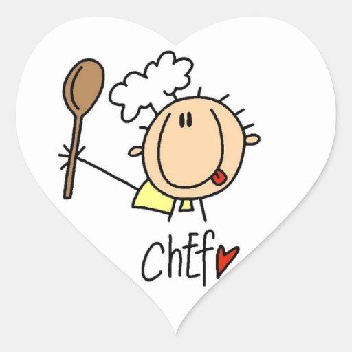 Male Chef Heart Sticker