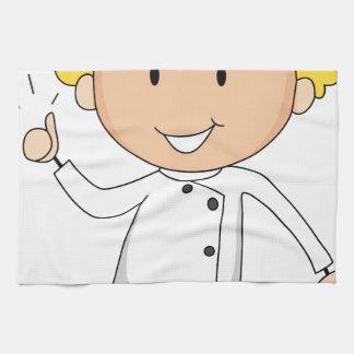 Male chef kitchen towels