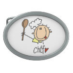 Male Chef Oval Belt Buckle