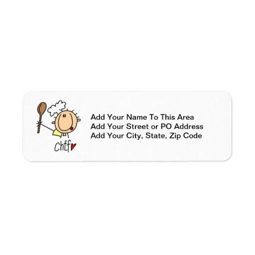 Male Chef Return Address Labels