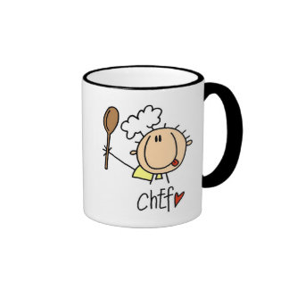 Male Chef Ringer Coffee Mug