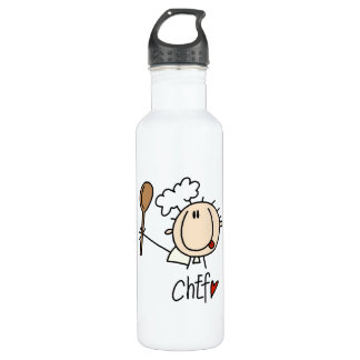 Male Chef Water Bottle