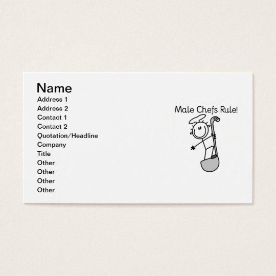 Male Chefs Rule Business Card