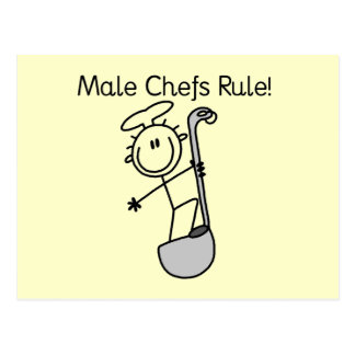 Male Chefs Rule Postcard
