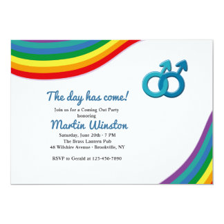 Male Coming Out of the Closet Invitation