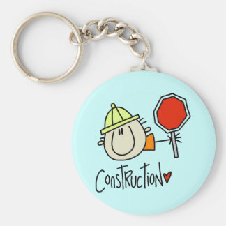 Male Construction Worker Keychain