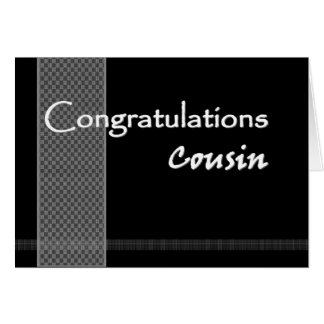 MALE COUSIN Wedding Congratulations - FUNNY Greeting Card