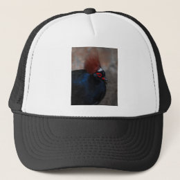 male crested wood partridge trucker hat