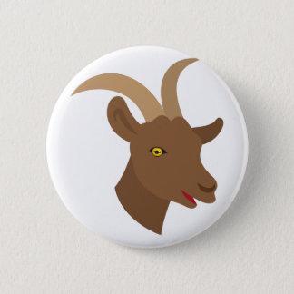 male cute goat face pinback button