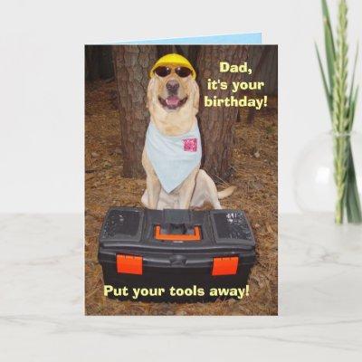 Male/Dad Funny Birthday Card from Zazzle.com