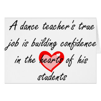 Dancing Teacher Greeting Cards | Zazzle