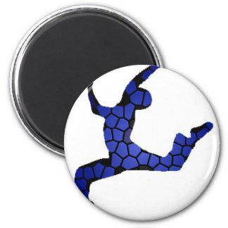 Male Dancer 2 Inch Round Magnet