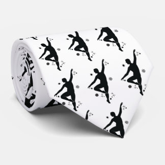 Male Dancer with Stars and Snowflakes Neck Tie