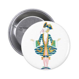 Male Deco Fashion Pinback Button