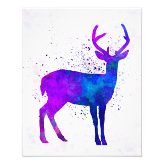 Male deer 01 in watercolor fotografías