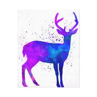 Male deer 01 in watercolor impresiones en lona