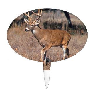 Male Deer Buck With Antlers Cake Picks