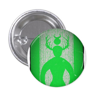 Male Diety Made by Pagan Aaron Shoop Pinback Button