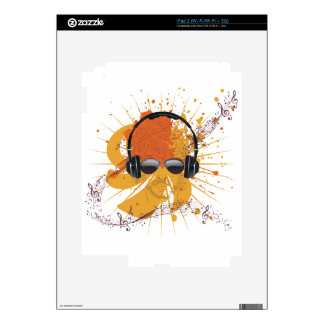 Male Dj Illustration 2 Decal For iPad 2