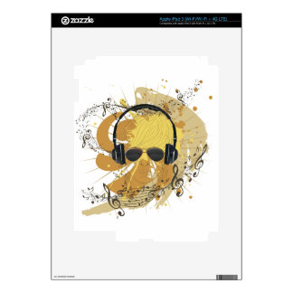 Male Dj Illustration 3 iPad 3 Decals