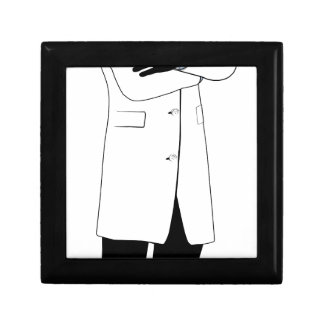 Male doctor silhouette keepsake boxes