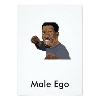 Male Ego 13 Cm X 18 Cm Invitation Card