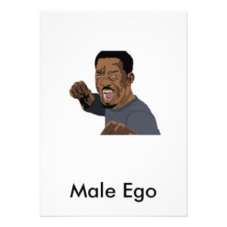 Male Ego Personalized Announcements
