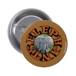 Male Elephant Circle Buttons
