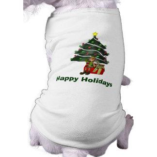 Male Elf Tree Christmas Holiday Cute Tee