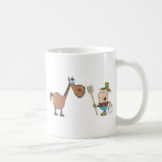 Male Farmer With Horse Coffee Mug