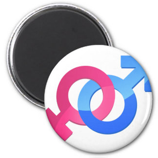 Male & Female 2 Inch Round Magnet