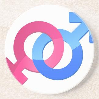 Male & Female Drink Coaster
