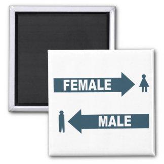 Male Female 2 Inch Square Magnet