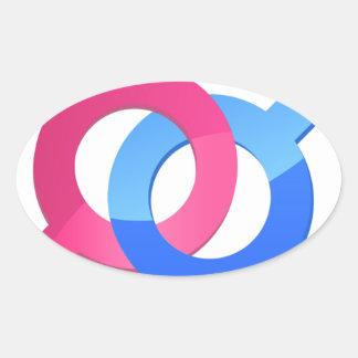 Male & Female Oval Sticker