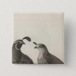 Male & Female Partridge of California Button