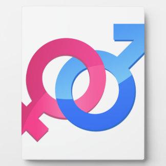 Male & Female Plaque