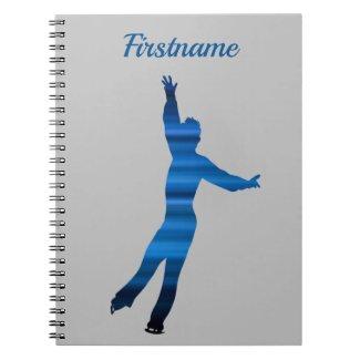 Male figure skater notebook - Blue