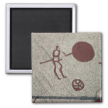 Male figure with the sun 2 inch square magnet