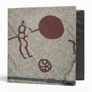 Male figure with the sun 3 ring binder