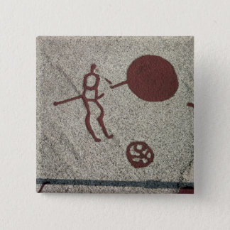 Male figure with the sun button